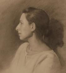 "Toni, Graphite on Paper 12"" x 14"", 2008"