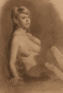"Anna, Graphite on Paper 12"" x 15, 2011, Private Collection"