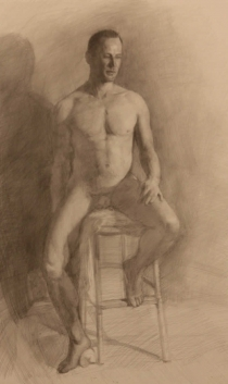 "Balthazar, Graphite on Paper 22"" x 24"", 2009"