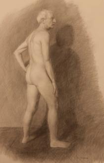 "John, Graphite on Paper 15"" x 24"", 2010"