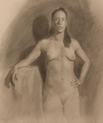 "Sara, Graphite on Paper 18"" x 22"", 2008"