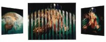 "Nativity, Multiview Painting, Oil on Wood, 1999, 30″x 40 "" Collection of St.Mary's Church, LIC, NY, Donated by Tony Grosso"