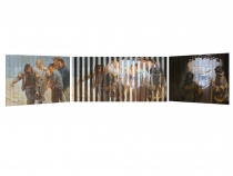 9/11, Multiview Painting, Oil on Wood 11″x 19″, 2003 (The Artist Magazine 2006 National Competition Finalist Award Winner Entry)