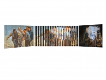 9/11, Multiview Painting, Oil on Wood 11″x 19″