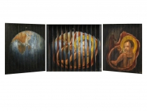 Origin, Multiview Painting, Oil on Wood, 10″x 12″
