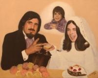 Larry and Regina, painting