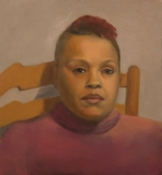 Woman Sitting on a Chair, Painting