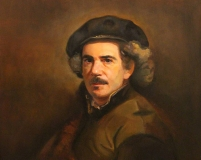 self portrait as a 17th century artist Benton