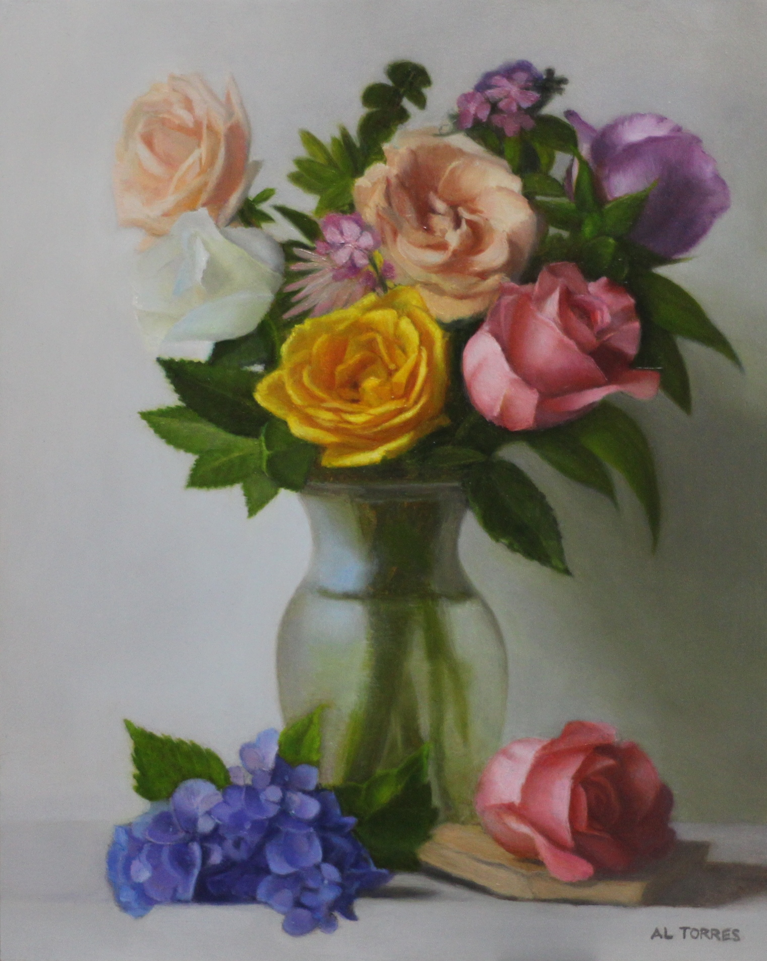 """Flowers in a Glass Vase"""