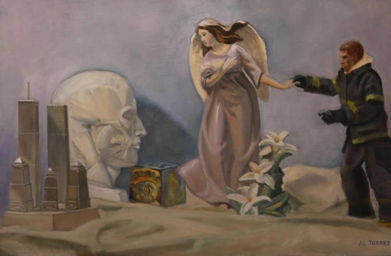 Nine Eleven Still Life, painting.