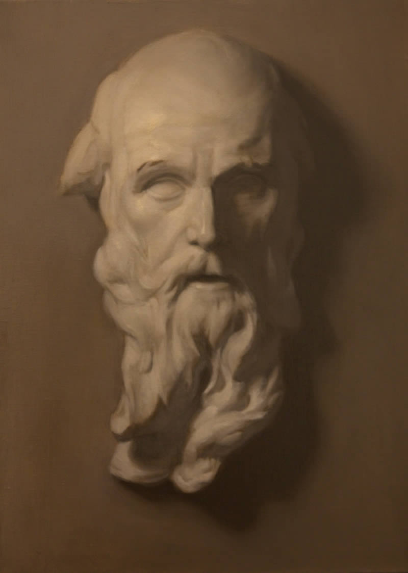 Old Man with a Beard, Painting